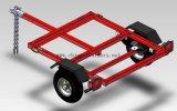 De Met een laag bedekte Aanhangwagen van het nut met Rode Macht (TR0400)