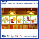 Tablilla de anuncios de LED del restaurante del menú