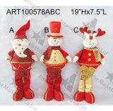 Роскошный Doorknob лосей снеговика Санта с Jingle колоколами, украшением Asst-Рождества 3