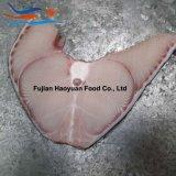 皮が付いている土地によってフリーズされるヨシキリザメのステーキ