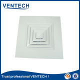 Ventilatie 4 van de Lucht HVAC Verspreider van de Lucht van de Levering van het Plafond van de Manier de Vierkante