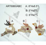 Pared Handstitched Plaque  Decoración Gift-2asst.
