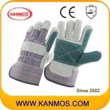 Doppelte Palmen-industrielle Sicherheits-Kuh-aufgeteiltes Leder-Arbeits-Handschuhe (110141)