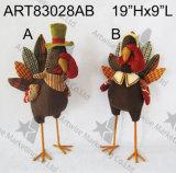 """16 """" Hx13 """" L spaventapasseri con l'uccello nero di legno Sign-3asst. - Decorazione della raccolta"""