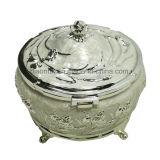 중국제 도매 결혼 선물을%s 은에 의하여 도금되는 금속 보석 포장 상자