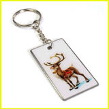 Keyring animal de borracha macio do urso do PVC