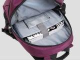 Purpurroter Nylonlaptop-Rucksack-Beutel mit einfachem und modernem Entwurf