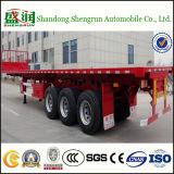 Drie-as Flatbed Aanhangwagen van de Vrachtwagen van de Container Semi