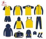 Modèle fait sur commande de chemises d'usure de vêtement de pull de Hoodies de gymnastique de sports d'hommes de couleur jaune