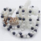 7-8m m de la pequeña joyería del collar de la perla natural de las mujeres del color mezclado redondo