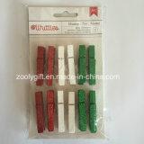 Pince à linge en forme de pince à cheveux / décoratif miniature en bois