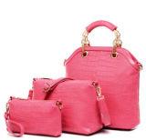 Sac en cuir de messagère de femmes du sac à main 3PCS/Set de l'unité centrale des femmes