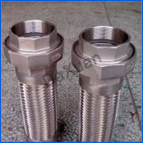 1 conducto galvanizado extremo del metal flexible del bramido del borde del NPT