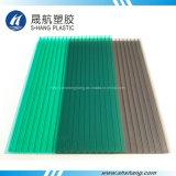 El panel de bronce y verde helado de la depresión del policarbonato