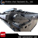 Excavatrice hydraulique de pelle rétro avec le ponton de train d'atterrissage