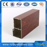 Extrusion en aluminium des graines en bois pour le guichet et la porte