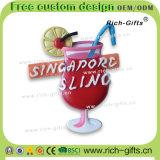 カスタマイズされた昇進のギフトのシリコーン冷却装置磁石の記念品のシンガポール夜サファリ(RC-SG)