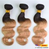 Mongolisches Omber färbte Karosserien-Wellen-Jungfrau-Haar