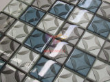 jet d'eau 3D coupant la mosaïque de décoration de verre cristal pour le mur (CFC685)
