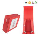 Rectángulos de regalo plegables de papel del imán hecho a mano de la alta calidad