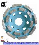 Type de segment roue de cuvette de rangée de double pour le meulage de granit