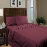 Bett-Blätter: Flaches Blatt, gepaßtes Blatt, Kissenbezug