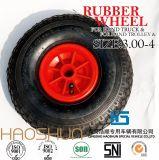 손수레 타이어 트롤리 타이어 압축 공기를 넣은 고무 바퀴 4.10/3.50-4