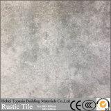 Azulejo de suelo de cerámica rústico esmaltado Matt de la porcelana del color del cemento para la decoración