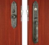 Serratura di portello stabilita dell'entrata del mortasare della serratura della maniglia in lega di zinco d'ottone antica