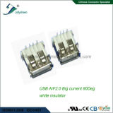 USB2.0 a/F 4p Grote Huidige 5A  Het Type &#160 van ONDERDOMPELING van de Rechte hoek; Geen het Krullen met Zwarte Isolatie
