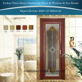 Puertas interiores de aluminio del cuarto de baño para la decoración del cuarto de baño