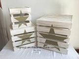 Rectángulo de madera natural modificado para requisitos particulares respetuoso del medio ambiente del embalaje de madera para el almacenaje