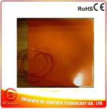 Verwarmer van de Printer van het silicone 3D 400*400*1.5mm 12/24V Dubbel Voltage 600W