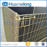 Jaula plegable del almacenaje del cargo del metal para el almacén