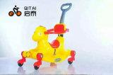 O passeio do bebê do cavalo de balanço dos miúdos no plástico do carro brinca 606