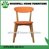 Cadeira de madeira sólida de jantar com duas cores