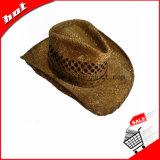 Chapéu relativo à promoção impresso do chapéu de vaqueiro da palha do Raffia