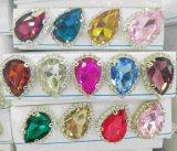 De driehoek naait op Bergkristal het Buitensporige Bergkristal van Juwelen voor naait (sW-Driehoek 22mm)