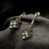 Retro 다이아몬드에 의하여 장식용 목을 박은 여성 귀걸이는 형식 보석을 복숭아 디자인한다