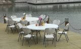 HDPE Plastic 160cm Restaurant Round Folding Dining Table per 8 People (HQ-Y160)