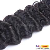 Волосы Peruvian девственницы Weave человеческих волос вязания крючком Unprocessed