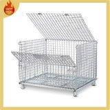 Folding Metal Wire gaiola de metal recipiente de armazenamento Bin (WMC-02)