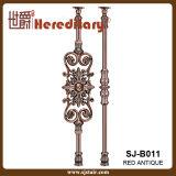 Barandilla decorativa de la fundición de aluminio del color de bronce de interior para la barandilla (SJ-B011)