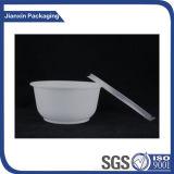 Contenitore di plastica della ciotola di insalata dell'alimento a gettare puro con il coperchio