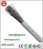 Câble de transmission de données d'UTP Cat5 avec 24 conducteurs de cuivre d'A.W.G.
