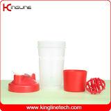 Frasco plástico shaker proteína 500ml com um compartimento e uma bola de plástico liquidificador ( kl- 7024 )