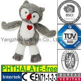 Hibou rouge de coeur de jouet de peluche de cadeau animal de Valentine