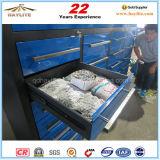 Hochleistungs28 Fach-Metallhilfsmittel-Speicher-Schrank mit Fußrolle