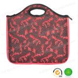 O iPad retro vermelho da tabuleta do neopreno da tela do jacquard inflama o saco do portátil