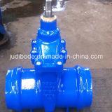 Válvula de porta com as extremidades do soquete para a tubulação do PVC Pipe/Di